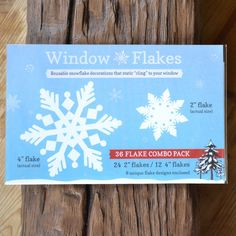 36 Snowflake Combo Pack of Snowflake Window Clings