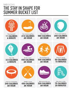 Free printable with ways to keep your family moving this summer and how many calories you will burn!
