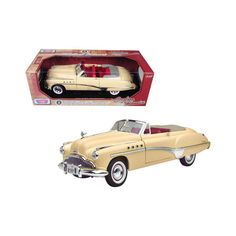1949 Buick Roadmaster Cream Diecast Model Car by Motormax Buick Roadmaster, Mercury Cars, Packing Boxes, Rubber Tires, Red Interiors, Diecast Model Cars, Car Lights, Clay Projects, Scale Models