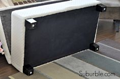 The No-Sew Way To Recover An Ottoman - Suburble