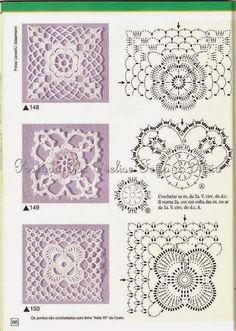 crochet motif cuadros