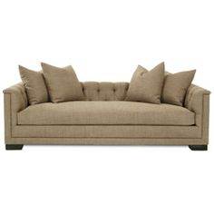 The Flanner Sofa is an elegant addition to any room in your home. Neutral fabric, button detail, and metallic nailhead trim are the details that set the True collection from HW Home apart from any other furniture in your home.