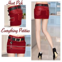 Joker Zipper Mini Skirt ❤️ PU leather with tassel winter joker zipper hip short mini skirt. Color red. Party with this baby on I'm sure you will get compliments. New! Skirts Mini