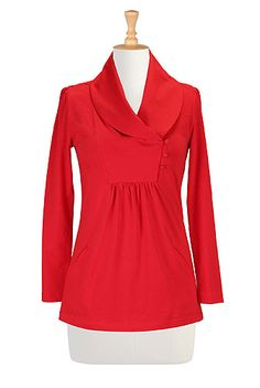 Red Knit Blouse, Vintage Inspired Clothes Womens Fashion Clothing - Fashion Tops - Shop for Fashion Tops