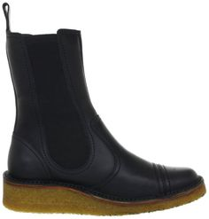 Swedish Hasbeens Rubber wedge Boots Womens Black Schwarz (Black suede) Size: 3.5 (36 EU): Amazon.co.uk: Shoes & Bags