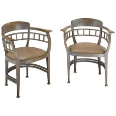 Pair of Armchairs, Vienna, 1900 | From a unique collection of antique and modern armchairs at https://www.1stdibs.com/furniture/seating/armchairs/