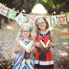 Back to School photo shoots... Banner from Little Birds Banners & Simply You Photography by Nicole Madsen both found on Facebook!