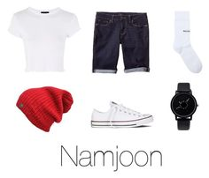 """Namjoon 'BTS Gayo Track 1'"" by xxnekohime on Polyvore featuring Topshop, Banana Republic, Converse and Balenciaga"