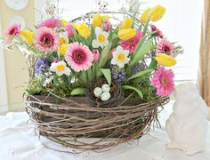 Beaux R'eves: Making A Rustic Spring Basket
