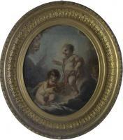 ECOLE FRANCAISE (XVIIIe siècle), entourage de Carle Van Loo Enfant Jésus et Saint [...], D'un Appartement de la Promenade des Anglais (Partie I) at Boisgirard Antonini Nice