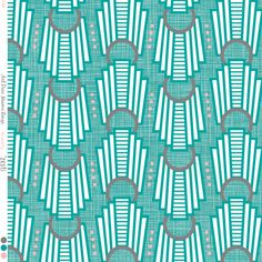 Art Deco Rings Miami Teal fabric by zesti on Spoonflower - custom fabric
