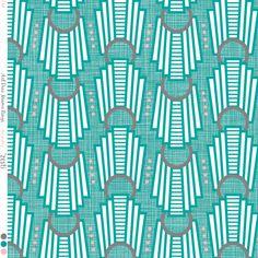 Art Deco Rings Miami Teal fabric by zesti on Spoonflower - custom fabric