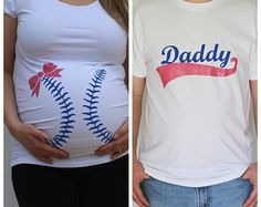 Baseball or Bows Gender Reveal Maternity Shirt and Daddy Tshirt Set Baseball mom maternity shirt funny maternity team pink or blue - Maternity Shirts - Ideas of Maternity Shirts - Baseball or Bows Gender Reveal Maternity Shirt and Daddy Baseball Gender Reveal, Gender Reveal Shirts, Gender Party, Baby Gender Reveal Party, Funny Pregnancy Shirts, Pregnancy Humor, Baseball Maternity, Gender Reveal Decorations, Daddy