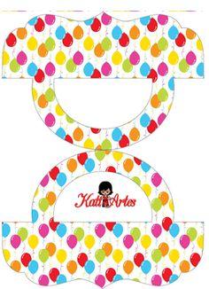 Balloons: Free Printable Candy Bag Label.