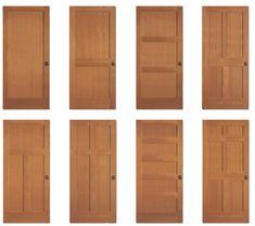 Shaker doors, new. Craftsman Interior Doors, Shaker Interior Doors, Craftsman Style Interiors, Shaker Doors, Craftsman Style Homes, Craftsman Bungalows, Craftsman Houses, Interior Door Styles, Room Interior