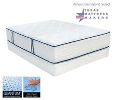 Texas Mattress Makers - Athens Gel Hybrid Select Mattress , $2,475.00 Queen Set (http://www.texasmattressmakers.com/athens-gel-hybrid-select-mattress/)
