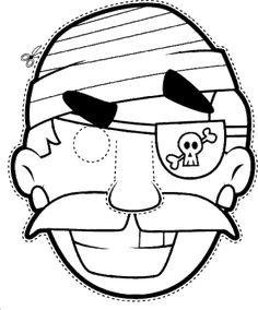 mascaras de carnaval pirata para imprimir