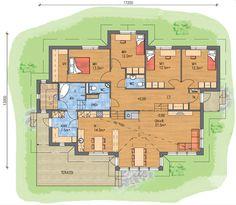 Unelmiesi koti valmiista talomallistostamme tai yksilöllisesti toteutettuna omista suunnitelmistasi. Bedroom House Plans, House Floor Plans, Architectural House Plans, Humble Abode, Sweet Home, Flooring, How To Plan, Architecture, Building