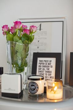By Malene Birger candles and roses