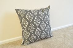Welcome to SimplySkandi :)  Pattern: Aztec/Tribal Design Grey  Item: Decorative Cushion Cover (insert not included) Product Dimensions: 18 x 18 (45