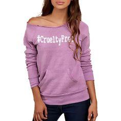 FTLA Apparel Eco Tri-Purple Off the Shoulder Eco Fleece Sweatshirt - #CrueltyFree