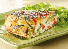 Asparagus, Red Pepper, and Potato Frittata | http://recipes.sandhira.com/asparagus-frittata.html