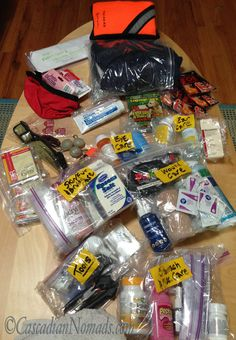 DIY Pet First Aid Kit: Complete with all needed dog first aid items and even some items for humans too! Make a large travel kit with a portable hiking/first response kit. Be prepared for any pet emergency.