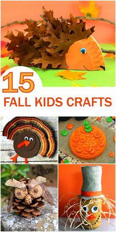 15 Fun Fall Kid Crafts Roundup, Turkey Crafts, Owl Crafts, Fall Crafts