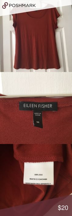 Eileen fisher top size m burnt orange 100% silk Eileen fisher top size m burnt orange 100% silk excellent condition Eileen Fisher Tops Blouses