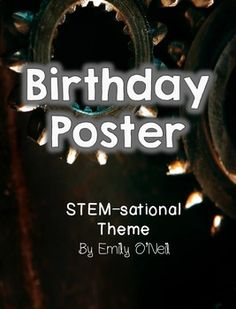 A great poster to add to your STEM-themed classroom. This poster has a block for each month of the year so that you may enter your students' birthdays. The poster is decorated to match the theme.