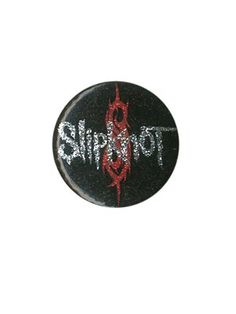 SLIPKNOT GLITTER LOGO BADGE _ Price-£0.99 _ Shop-Grindstore