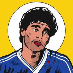 Maradona 86 Art Print by Facundo Mansilla - X-Small Diego Armando, Football Art, Messi, Earn Money, Mockup, Sculptures, Art Prints, Soccer, Frases