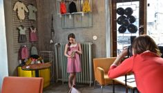 Ia posing with Taimi dress in Made in Kallio #Lumoan #MadeinKallio