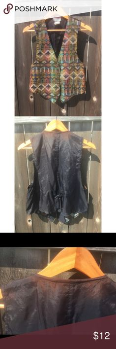 VTG 90s vest SZ M 1990s VEST with some back discoloration but still cute to wear! SZ Medium Vintage Jackets & Coats Vests