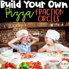 Free Fraction Circles for your Fraction Unit!! Make mini-pizzas with your students to help them understand fractions! #thirdgrade #fourthgrade #fractions #pizza #fractioncircles #free