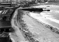 Zona Orzan 1958. A Coruña.  Galicia.