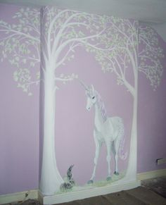 Unicorn Mural Stage 3 Unicornbedroom Dirty S Nursery In 2019 Unicorn Rooms, Unicorn Bedroom, Unicorn Art, Rainbow Unicorn, Bedroom Murals, Kids Bedroom, Kids Rooms, Bedroom Ideas, Disney Princess Room