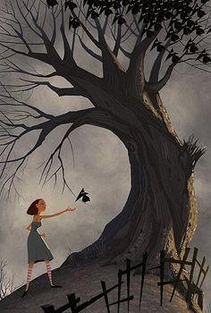 by Erwin Madrid - Illustration, Character Design, Amazing Art Art And Illustration, Illustration Children, Book Illustrations, Storyboard, Rabe, Animation, Arte Popular, Conceptual Art, Tree Art