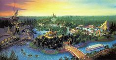 Beastly Kingdom concept artwork. This was the original expansion plan for Disney's Animal Kingdom before they ran out of money. Now we get Avatar.