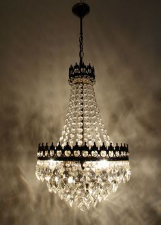 Antique French Basket Chandelier