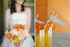 Love this orange, yellow and gray color scheme.