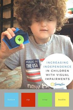 Ideas for using the Melissa & Doug Basic Skills Puzzle to Promote Independence in Self-Dressing for Children with Visual Impairments