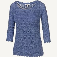 Filey Crochet Jumper at Fat Face Ivory or lemon - i like both
