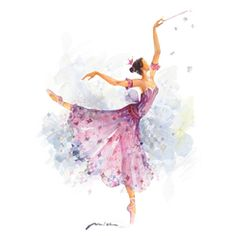 """""""""""May wisdom guide you as a lantern in the dark"""" - Sleeping Beauty Ballet limited edition print: the Lilac Fairy """" Ballerina Art, Ballet Art, Ballet Dance, Ballet Room, Ballet Illustration, Sleeping Beauty Ballet, Ballet Costumes, Just Dance, Watercolor Paintings"""