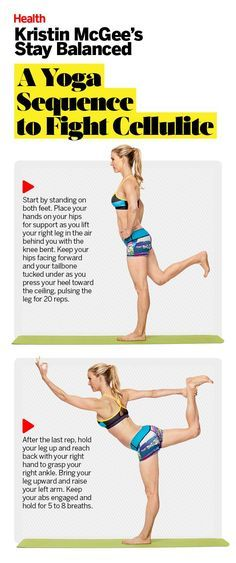 Don't like the look of those little bumps? Discover the easy sequence that will send them packing. Get more cellulite-fighting yoga poses here. | Health.com