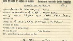 Spain - 1936-39. - GC - Carnet de corresponsal de guerra de Antoine de Saint Exupéry.