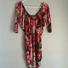 FINAL Price Red top or mini dress Only worn a few times. Can be worn as top or mini dress! Tops