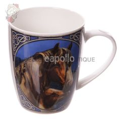 This Bone China Mug is adorned with the artwork of Lisa Parker. Apache brings to life a magnificent horse and her foal. It is Both Dishwasher and microwave safe and is a must have for all fans of horses or Native American art. Lisa Parker, China Mugs, Native American Art, Bone China, Fans, Horses, Boho, Tableware, Artwork