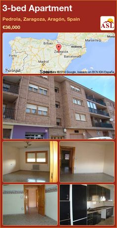 3-bed Apartment in Pedrola, Zaragoza, Aragón, Spain ►€36,000 #PropertyForSaleInSpain