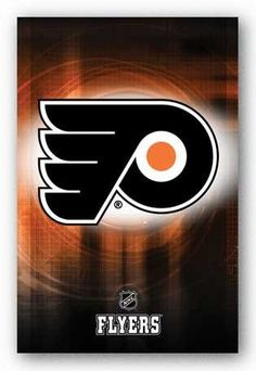 Bring your wall alive with Philly's classic Flying P - the legendary logo of the Philadelphia Flyers! This official NHL poster is a must for the wall of any true fan of hockey's orange-and-black heroes. Flyers Hockey, Hockey Logos, Nhl Logos, Ice Hockey Teams, Hockey Quotes, Philadelphia Flyers Logo, Philadelphia Sports, Background Images For Websites, Dorm Posters